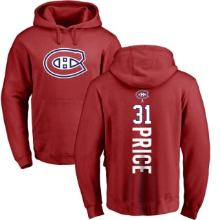 Men's Carey Price Montreal Canadiens Red Backer Pullover Hoodie